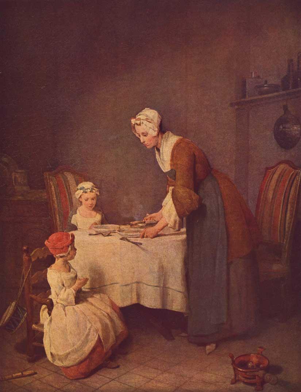 Jean-Simeon-Chardin-Das-Tischgebet-beruehmte-gemaelde-bekannte-kuenstler
