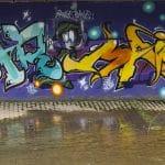 Street Art Graffiti Schrift - Buchstaben