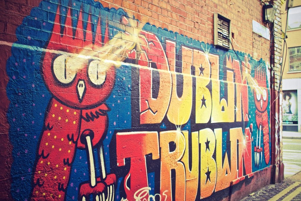 Street Art in Dublin - Graffiti Schrift ABC