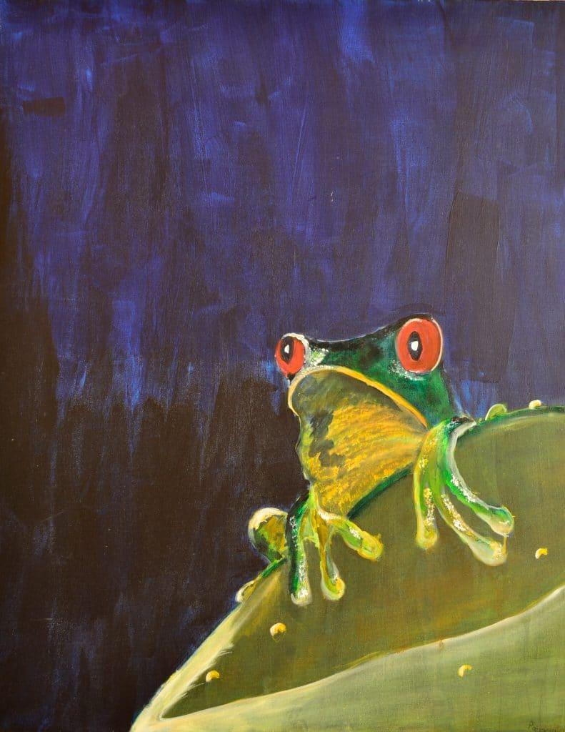Rotaugenfrosch von Patricia Jaqueline