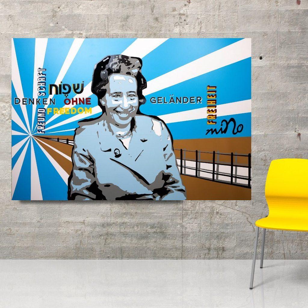 Gewinnerbild: Hannah Arendt - Tape ART, 2020 miNo-ART ®