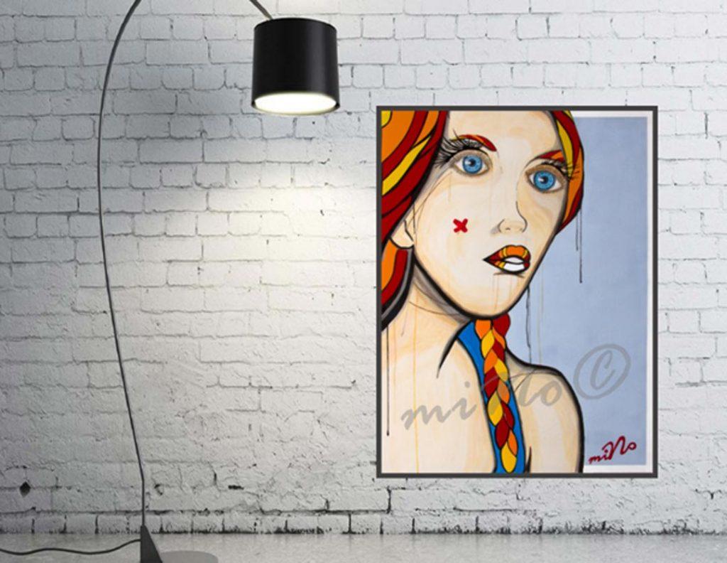 Tape ART, Amour Fou Plexiglas auf Leinwand 2019, miNo-ART ®