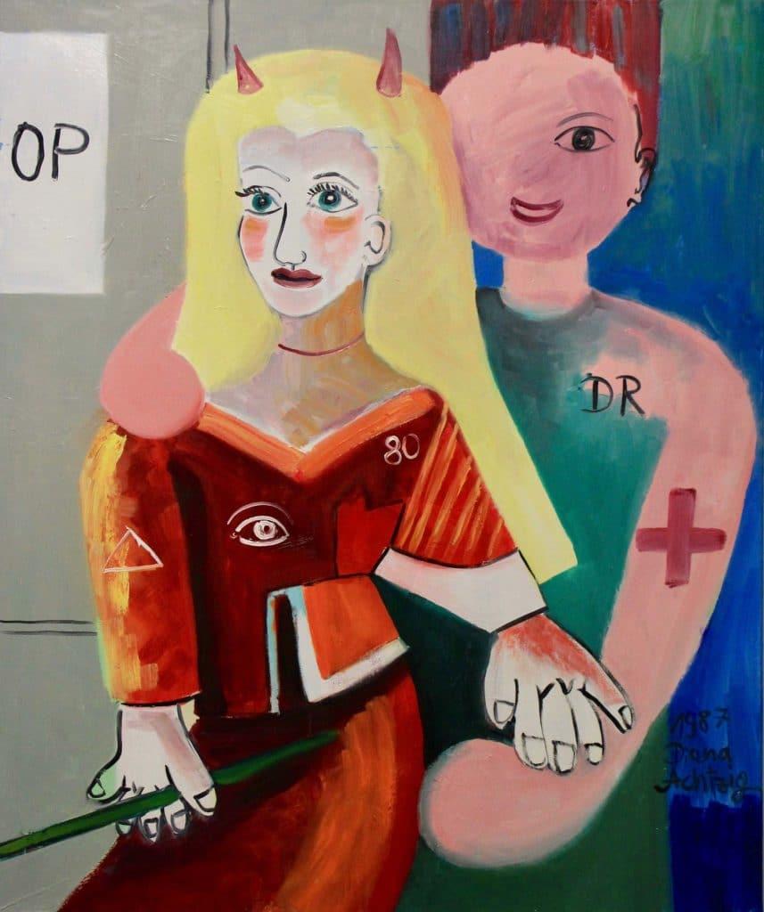 3-Nach-Pablo-Picasso-Aerztepaar--von-Chirurgen-vor-dem-OP